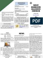 Church Newsletter - 29 July 2012.1