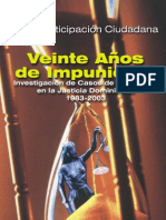 Participación Ciudadana un estudio sobre 20 años de impunidad en RD