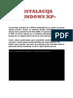 Instalacija Xp
