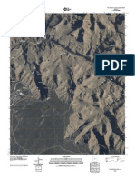 Map of Grand Canyon National Park - Phantom Ranch Topographic Map