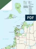 Park Map of Sleeping Bear Dunes National Lakeshore