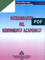 DETERMINANTES DEL RENDIMIENTO ACADEMICO