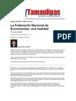 LERA2. La federación nacional de economistas. una realidad. 23.7.12
