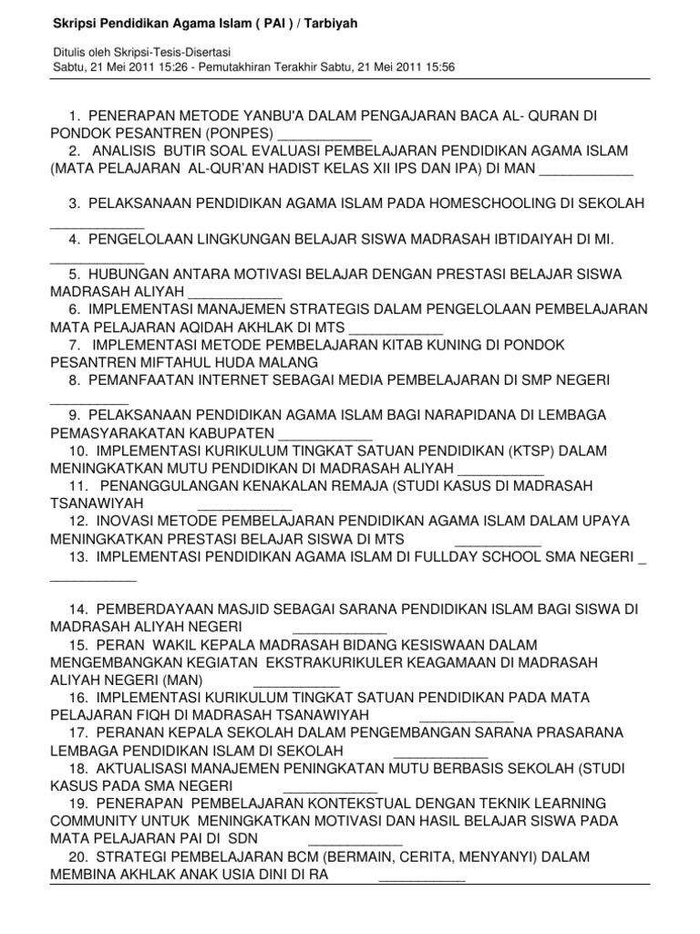 Contoh Proposal Skripsi Pai Tarbiyah Pdf Chipolaris