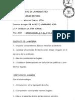 Derecho Programa