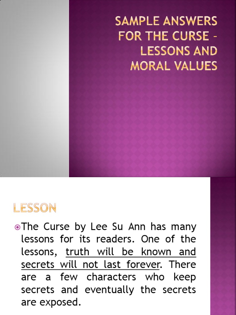 the curse lee su ann