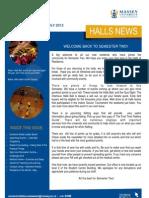 Halls News Issue Four 2012