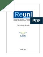 2007 REUNI Diretrizes Gerais MEC