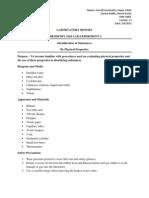 Labortatory Report