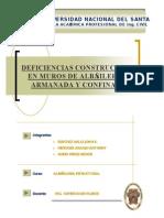 DEFICIENCIAS CONSTRUCTIVAS EN MUROS DE ALBAÑILERIA