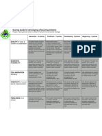 Recycling Initiative Rubric