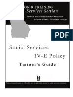 Social Services IV-E Policy Trainer's Guide GA-2006