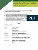ADB-AusAID Mekong Gender and Transport Workshop Agenda
