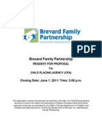 Brevard Family Partnership Request for Proposal Child Placing Agency 2011