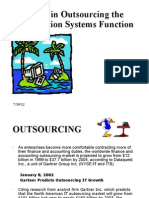 Issues in Outsourcing the Critical IT and IS Function