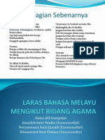Laras Bahasa Melayu Mengikut Bidang Agama