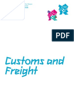 London 2012 - Customs and Freight Manual