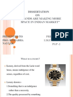 project report on luxury brand