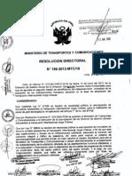 Segundo listado de beneficiarios de reasentamiento inmediato de la población de los asentamientos humanos en el Área de ampliación de aeropuerto Internacional Jorge Chávez Resolución Directoral N°186-2012-MTC/16 - 21 de junio de 2012