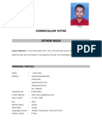 Jithin Usual Resume