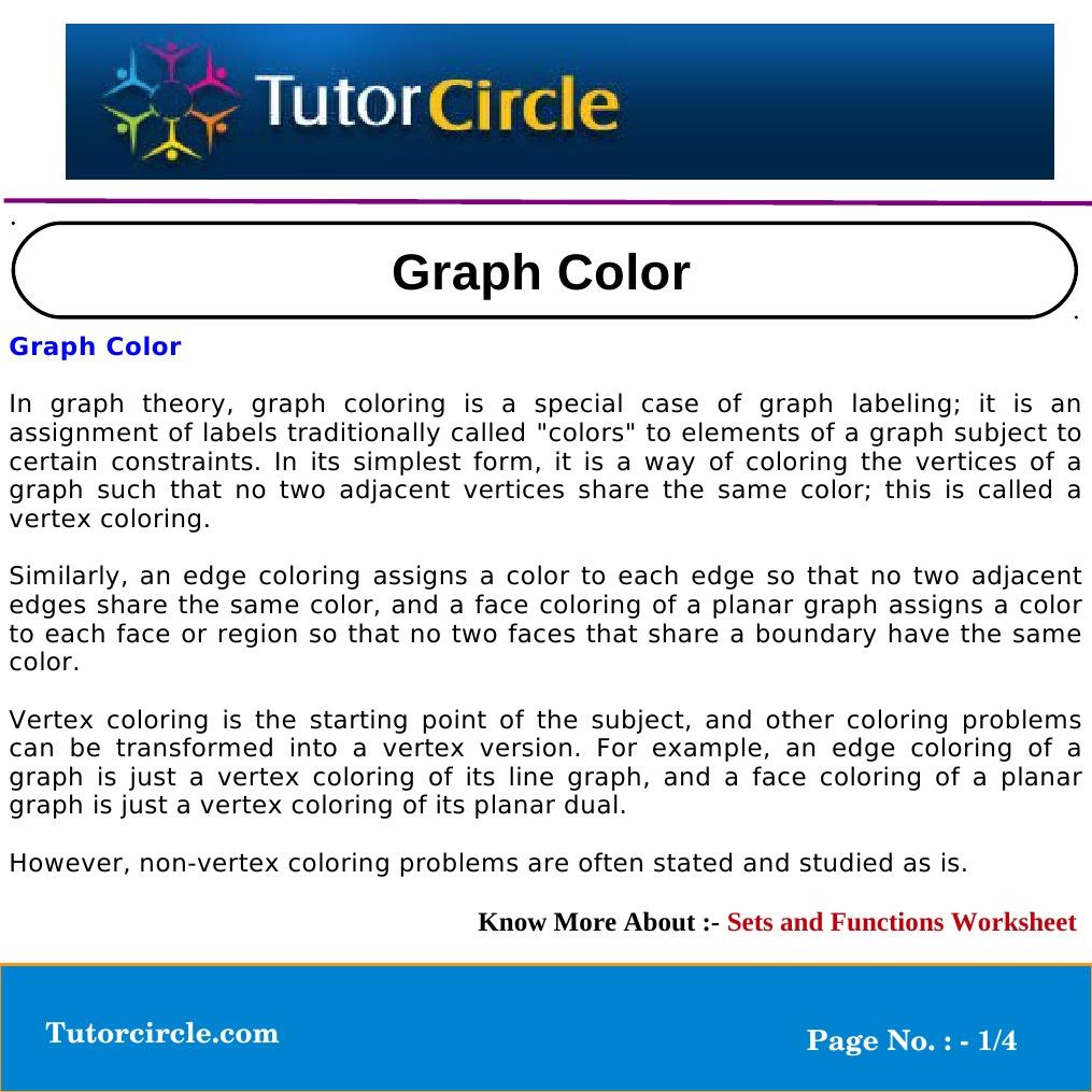 worksheet Vertex Edge Graph Worksheet graph color theory vertex theory