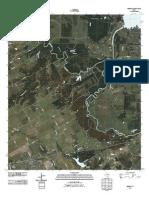 Topographic Map of Kerens