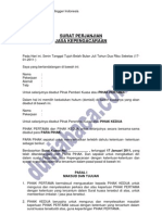 Surat Perjanjian Jasa Kepengacaraan