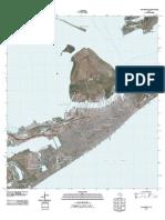 Topographic Map of Galveston