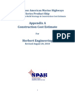 Costruction Cost Estimate