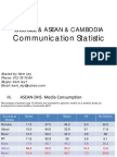 Global, ASEAN & Cambodia Communication Statistic Uly 2012