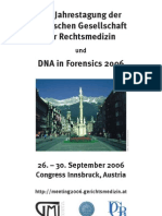 Dna in Forensics 2006 Program