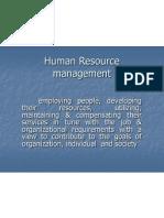 Human Resource Management