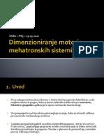 Dimenzioniranje Motorjev v Mehatroniki