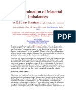 The Evaluation of Material Imbalances