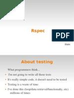 Rspec Basics