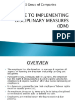 A Guide to Implementing Disciplinary Measures