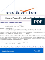 Sample Papers for Maharashtra Board