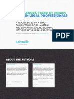 Challenges Faced by Indian Women Legal Professionals (Executive Summary)