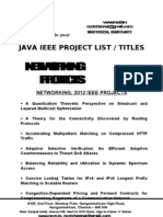 Java - Networking Project Titles - List = 2012-13, 2011, 2010, 2009, 2008