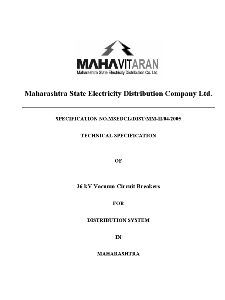 Msetcl 33kv Vcb Switch Insulator Electricity Circuit Breaker Wiring Diagram On Of Vacuum