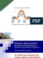 Prime Statistiche Mediazione Civile v 1.0 25 Maggio 2011