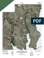 Topographic Map of Rowlett