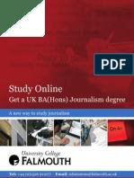 BA(Hons) Journalism (Online ) Leaflet