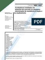 NBR 14827 - 2002 - Chumbadores Instalados Em Elementos de Concreto
