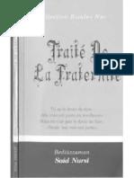 TRAITE DE LA FRATERNITE (Vingt-Deuxième Lettre)  fransızca uhuvvet