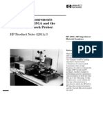 HP-PN4291A-3_Impedance Measurements Using the HP4291A and the Cascade Microtech Prober