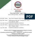 Week Starting July 30
