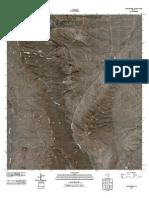 Topographic Map of Capote Peak