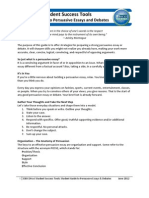 Student Guide to Persuasive Essays and Debates