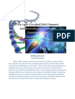 Synopsis the Light Encoded Dna Filament and Biomolecular Quantum Communication